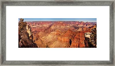 City - Arizona - Grand Canyon - The Great Grand View Framed Print by Mike Savad