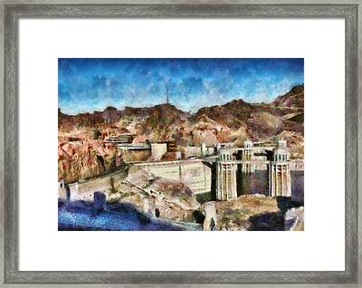 City - Nevada - Hoover Dam Framed Print by Mike Savad