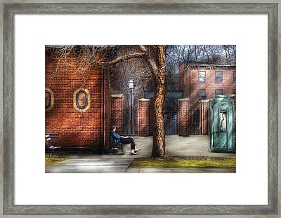City - Newark Nj - Always Waiting  Framed Print by Mike Savad