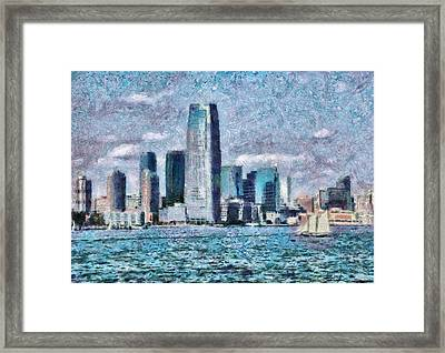 City - Ny - City Of The Future Framed Print by Mike Savad