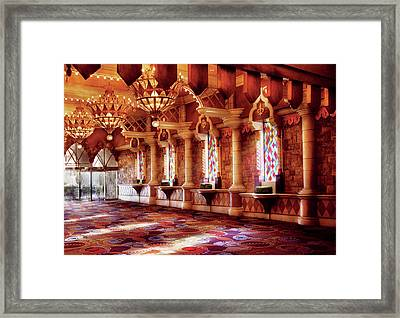 City - Vegas - Excalibur - In The Great Hall  Framed Print by Mike Savad