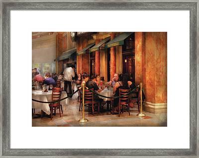 City - Venetian - Dining At The Palazzo Framed Print by Mike Savad