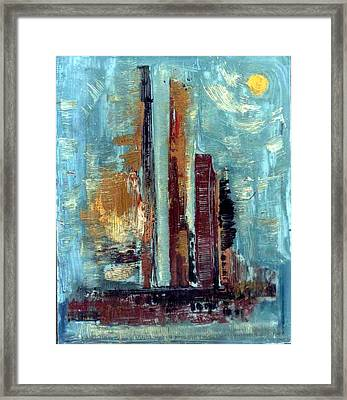 City Abstraction Framed Print by Anand Swaroop Manchiraju