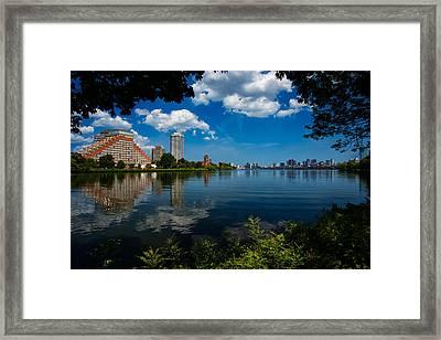 City Along The Charles Framed Print