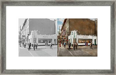 City - Amsterdam Ny - Hamburgers 5 Cents 1941- Side By Side Framed Print by Mike Savad