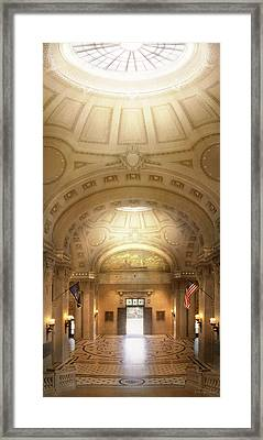 Framed Print featuring the photograph City - Annapolis Md - Bancroft Hall by Mike Savad