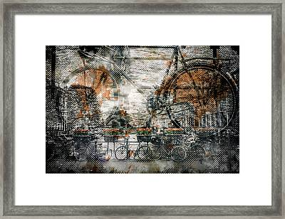 City-art Amsterdam Bicycles  Framed Print by Melanie Viola