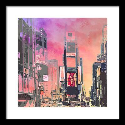 Times Square Framed Prints