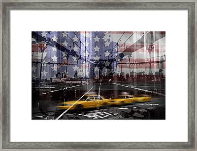 City-art Nyc Composing Framed Print