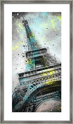 City-art Paris Eiffel Tower IIi Framed Print by Melanie Viola