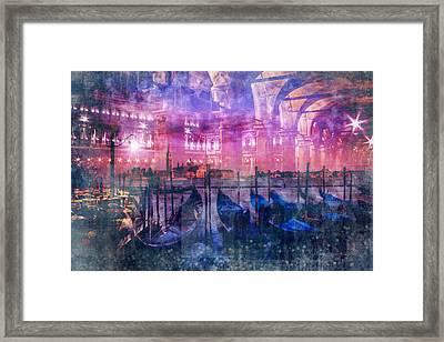 City-art Venice Composing Framed Print by Melanie Viola