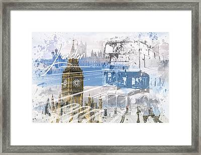 City Art Westminster Collage Framed Print by Melanie Viola