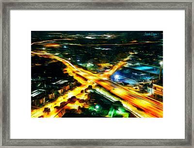 City Artery - Pa Framed Print by Leonardo Digenio