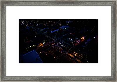 City At Night From Above Framed Print