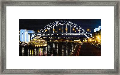 City At Night Framed Print by Svetlana Sewell