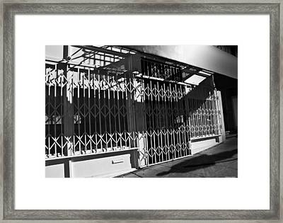 City Back Streets Framed Print by Larry Butterworth
