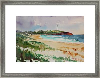 City Beach Framed Print