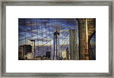 City Between The Bridge Framed Print