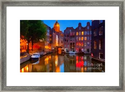 City Block 900 Soft And Dreamy In Thick Paint Framed Print