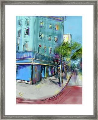 City Blue Framed Print by Russell Pierce