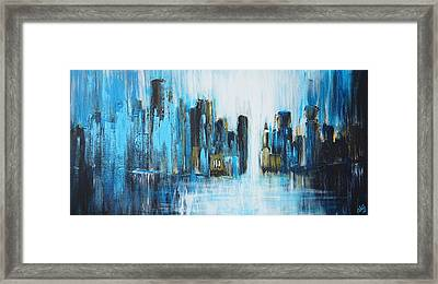 City Blues Framed Print