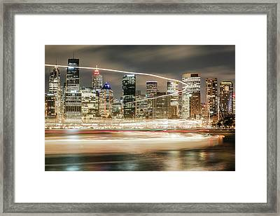 City Blur Framed Print