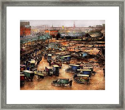 City - Boston Ma - The Great Molasses Flood 1919  Framed Print