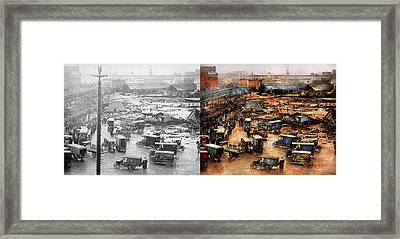 City - Boston Ma - The Great Molasses Flood 1919  - Side By Side Framed Print