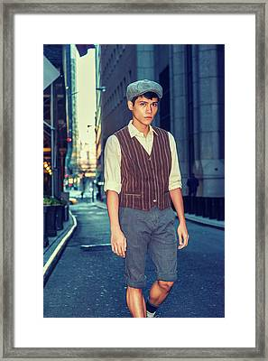 City Boy Framed Print