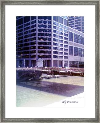 Framed Print featuring the pyrography City Bridge by Elly Potamianos