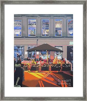 City Cafe Framed Print by Malcolm Warrilow