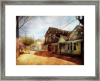 City - California - The Town Of Downieville 1933 Framed Print by Mike Savad