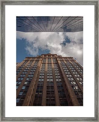 City Canyon Framed Print