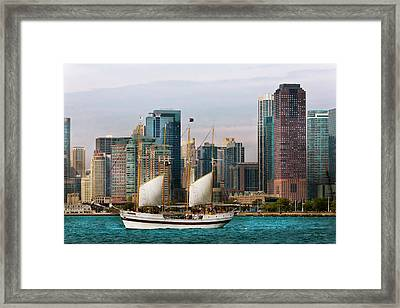 City - Chicago - Cruising In Chicago Framed Print by Mike Savad