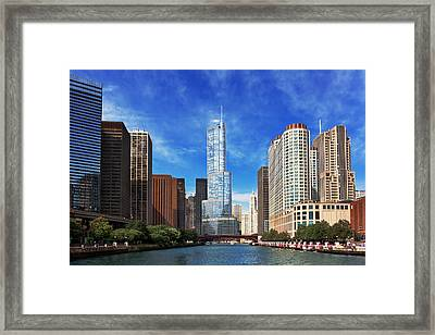 City - Chicago Il - Trump Tower Framed Print by Mike Savad