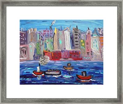 City City City Framed Print by Mary Carol Williams