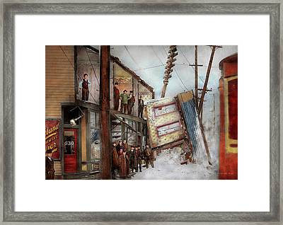 City - Cleveland Oh - Open House 1913 Framed Print by Mike Savad