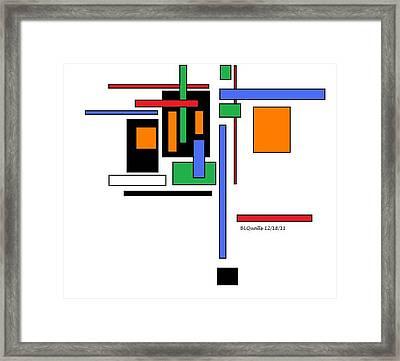 City Colors 2 Framed Print by B L Qualls