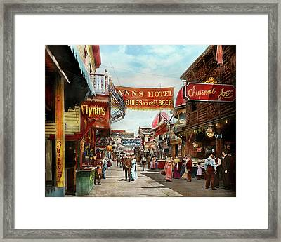 Framed Print featuring the photograph City - Coney Island Ny - Bowery Beer 1903 by Mike Savad
