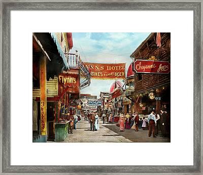 City - Coney Island Ny - Bowery Beer 1903 Framed Print