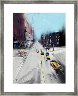 City Contrast Framed Print by Russell Pierce