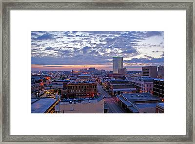 City Dawn Framed Print
