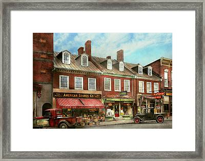 City - Easton Md - A Slice Of American Life 1936 Framed Print by Mike Savad