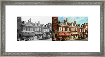 City - Easton Md - A Slice Of American Life 1936 - Side By Side Framed Print by Mike Savad