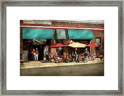 Framed Print featuring the photograph City - Edison Nj - Pino's Basket Shop by Mike Savad