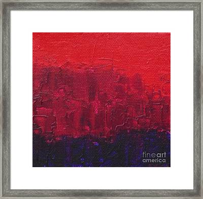 City Framed Print by Emily Young
