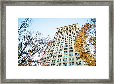 Framed Print featuring the photograph City Federal Building In Autumn - Birmingham, Alabama by Shelby Young