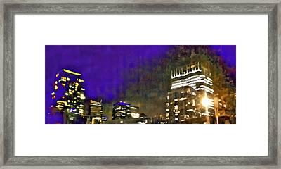 City Flames Framed Print
