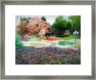 Framed Print featuring the photograph City Flare Flower Garden Walkway by Aimee L Maher Photography and Art Visit ALMGallerydotcom