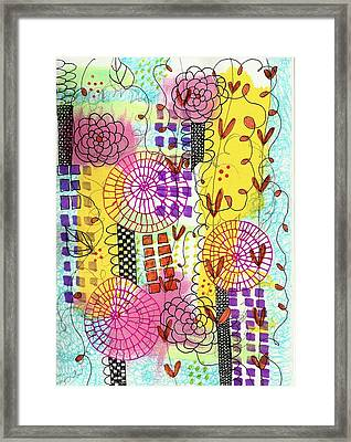 City Flower Garden Framed Print by Lisa Noneman